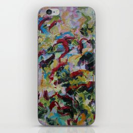 Unchained: Bold and Colorful Orginal painting iPhone Skin