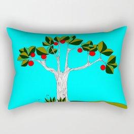 A Fruit Tree and Sun Rectangular Pillow