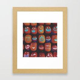Jack O'Lanterns Framed Art Print