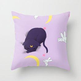 Sailor moon bed Throw Pillow