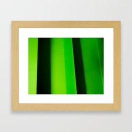 Green Folds II Framed Art Print