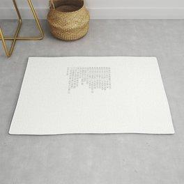 Prayer of Saint Francis #minimalism #prayerofpeace Rug