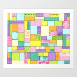 Pretty in Pastels Art Print