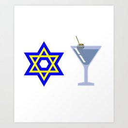 Jews Booze and Brews Art Print