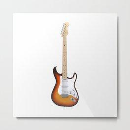 Sunburst Electric Guitar Metal Print