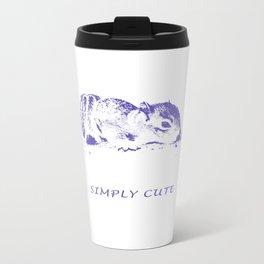 Simply Cute Baby Squirrel No. 003 Metal Travel Mug