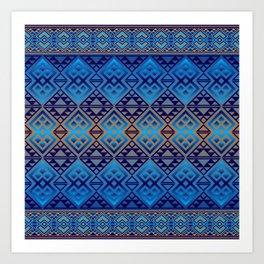 The Lodge (Blue) Art Print