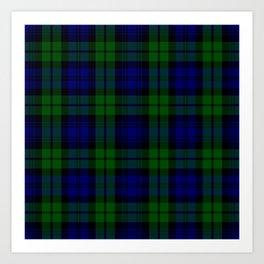 Scottish Campbell Tartan Pattern-Black Watch #1 Art Print