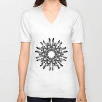 donkey V-neck T-shirts featuring Donkey Kaleidoscope  by Yann Thompson