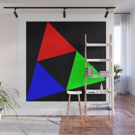 Triangles in a Square Wall Mural