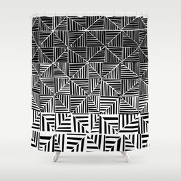 Black & White Pattern Shower Curtain