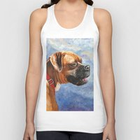 boxer Tank Tops featuring Boxer by Good Artitude