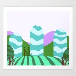 Stripes landscape  Art Print