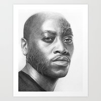 house md Art Prints featuring Dr. Foreman-House MD-Omar Epps-Portrait by Olechka