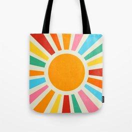 Retro Sunrise: Rainbow Edition Tote Bag