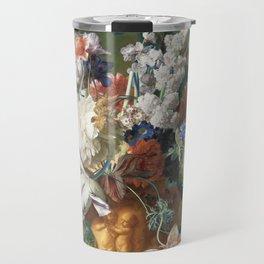 Bouquet of Flowers - Jan van Huysum Travel Mug