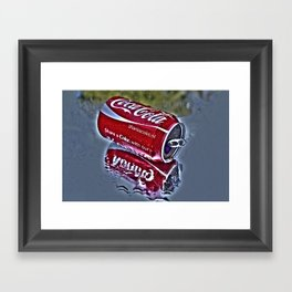 Chilly cola in the hot summer day  Framed Art Print