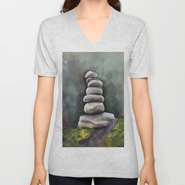 Cairns In A Clearing Unisex V-Neck