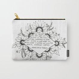 Thoreau Sunflower Carry-All Pouch
