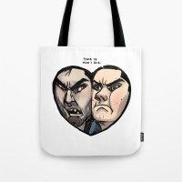 sterek Tote Bags featuring Sterek by lolbatty