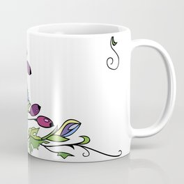 Frame from abstract flowers and berries Coffee Mug