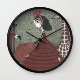 Sunday Excursion to the Zoo Wall Clock