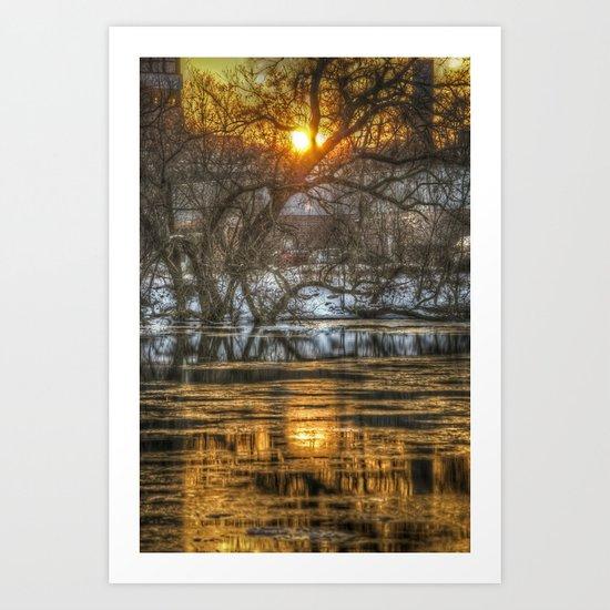 Berlin winter sunset Art Print