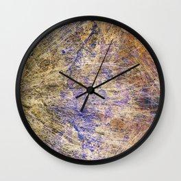 Purple Gold Wall Clock