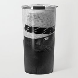 Cat with hat Travel Mug