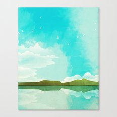Warm Blue Sky Canvas Print