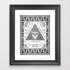 Legend of Zelda Kingdom of Hyrule Crest Letterpress Vector Art Framed Art Print