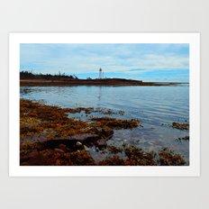 Point Prim Lighthouse Reflected Art Print