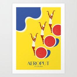 "EX-JU poster ""AEROPUT"" Art Print"