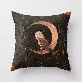Barn Owl Magic Throw Pillow