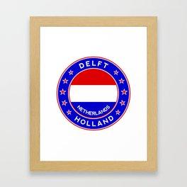 Delft, Holland, Netherlands Framed Art Print