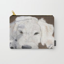 White Labradoodle Pup Carry-All Pouch