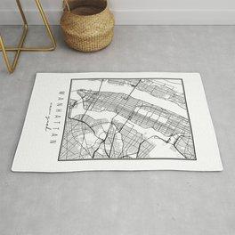 Manhattan New York Street Map Rug