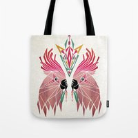parrot Tote Bags featuring parrot by Manoou