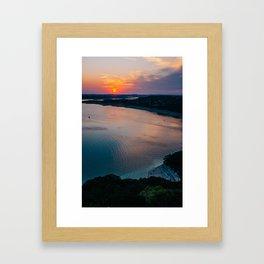 Beautiful Sunset in Austin Framed Art Print