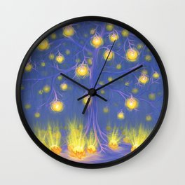 FRUITS OF LIGHT Wall Clock