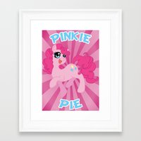 mlp Framed Art Prints featuring MLP FiM: Pinkie Pie by Yiji