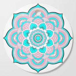 Pink Turquoise Mandala Cutting Board