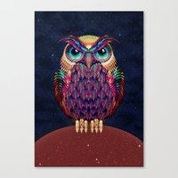 owl Canvas Prints featuring OWL 2 by Ali GULEC