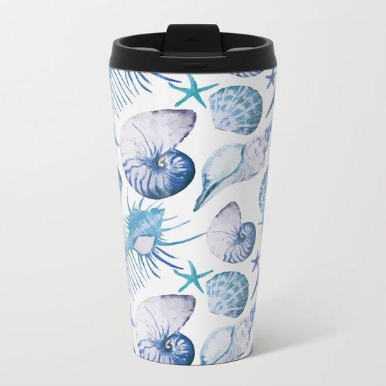 Sea Life Pattern 07 Metal Travel Mug