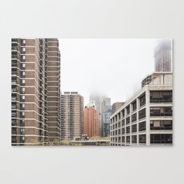 new york city in the clouds Canvas Print