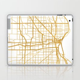 MILWAUKEE WISCONSIN CITY STREET MAP ART Laptop & iPad Skin