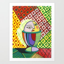 A boiled egg according to Pablo Picasso Art Print