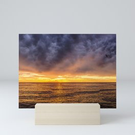Redondo Beach Stormy Sunset Mini Art Print