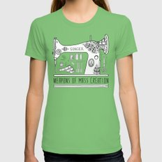 Weapons Of Mass Creation - Sewing X-LARGE Womens Fitted Tee Grass