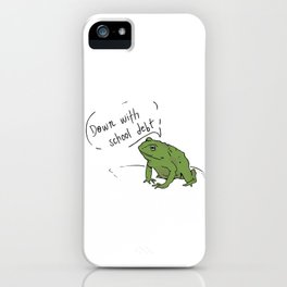 Student Debt Frog iPhone Case